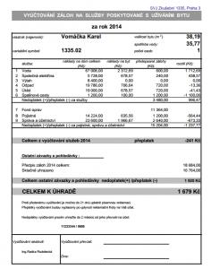 Podrobné vyúčtování - standard SVJprofi.cz
